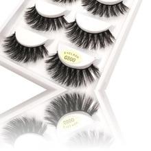 5 pairs/Lot Makeup Mink Eyelash False Fake Eyelashes Handmade Natural Long Thick 100% Real Eye Lashes