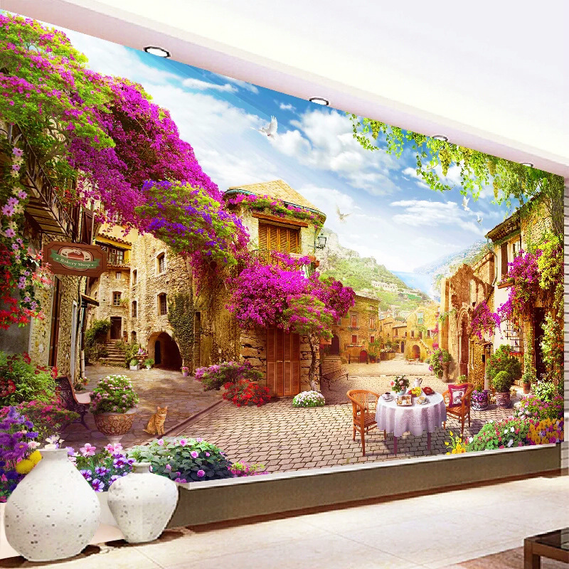New Large Living Room Decorative Diamond Painting 5d diy Beautiful Garden Landscape Diamond Embroidery Scenery Diamond