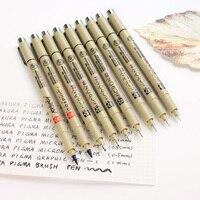Япония Сакура scriptliner маркер 0.5 0.3 0.8 различных размеров Нить рисунок пером Цвет ручка много поставок живопись