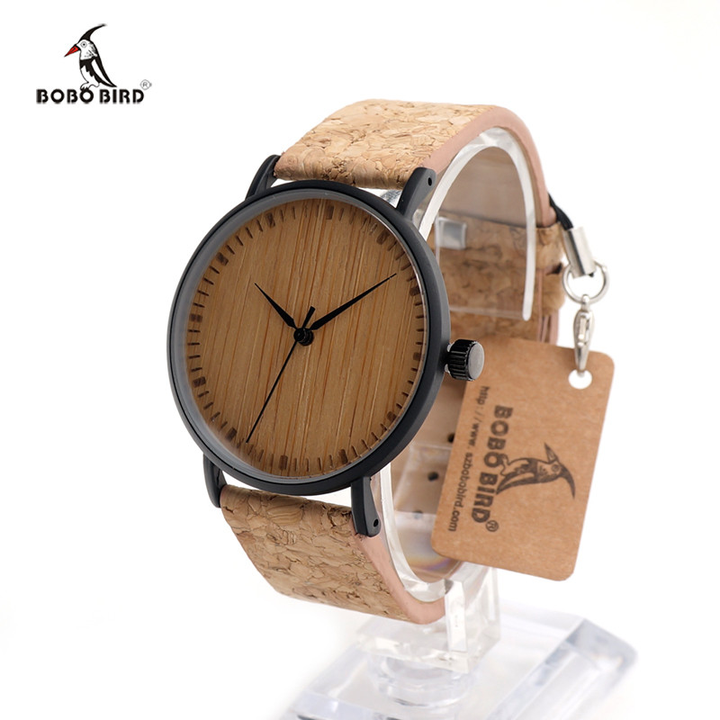 ФОТО BOBO BIRD E19 E18 E17  Quartz Watches Top Design Watch With Wood Face and Leather Straps in Package