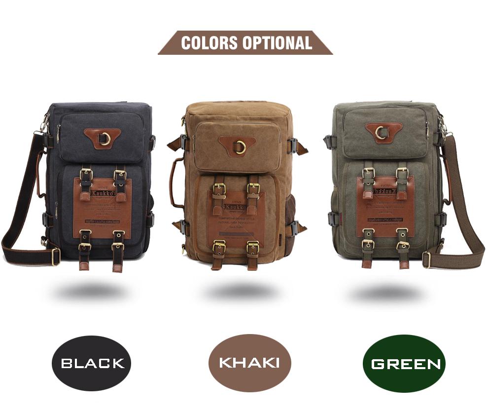 Marke Stilvolle Reise New vintage rucksack canvas backpack leisure travel schoolbag unisex laptop backpacks men backpack male 3
