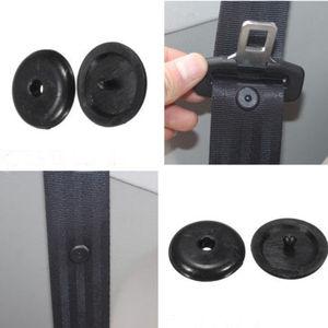 SEKINNEW 10Pcs Car Parts Black Plastic Car Safety Seat Belt Stopper Spacing Limit Buckle Clip Retainer Seatbelt Stop Button