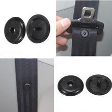 SEKINNEW 10Pcs רכב חלקי שחור פלסטיק רכב חגורת בטיחות בטיחות בלם מרווח גבול אבזם קליפ מייצבת חגורת בטיחות להפסיק כפתור
