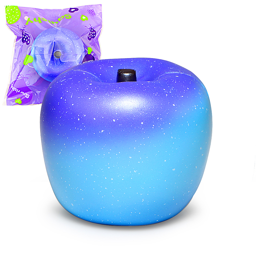 Jumbo Squishy Galaxy Apple Squishies Cream Scented Slow Rising Squeeze Toy Original Package