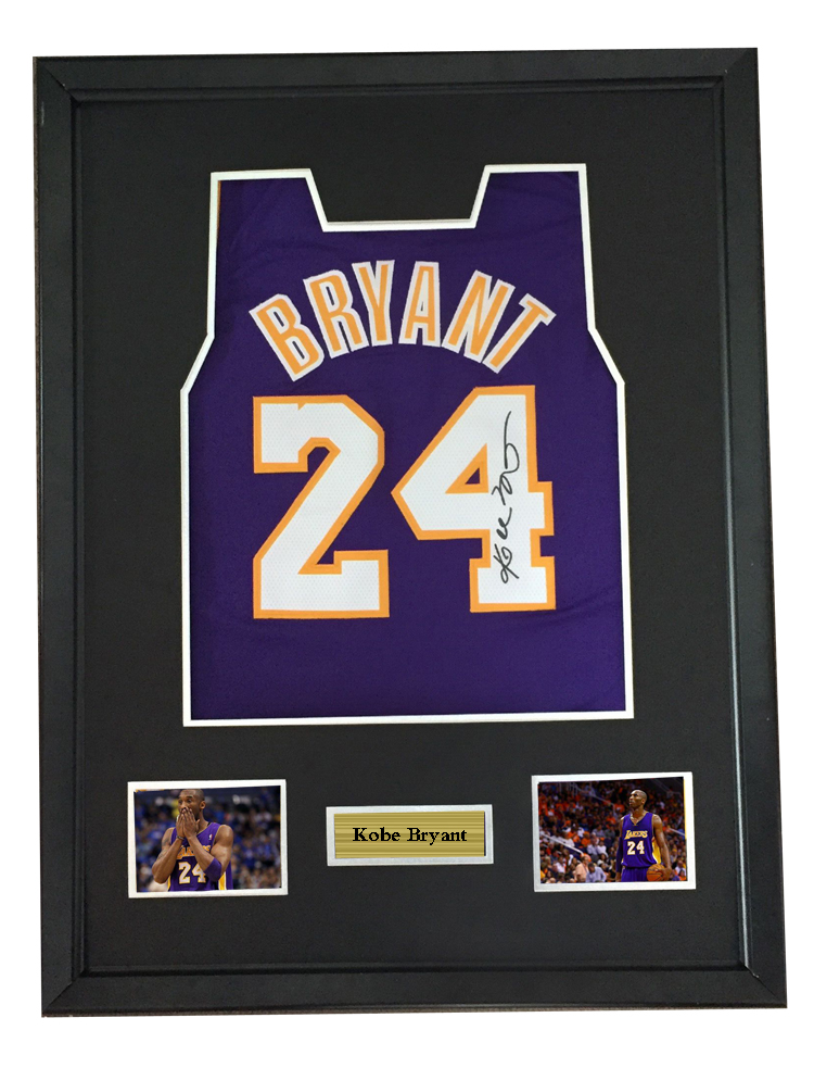 cedf97d4dfcc Kobe Bryant signed autographed basketball shirt jersey come with Sa coa  framed Lakers