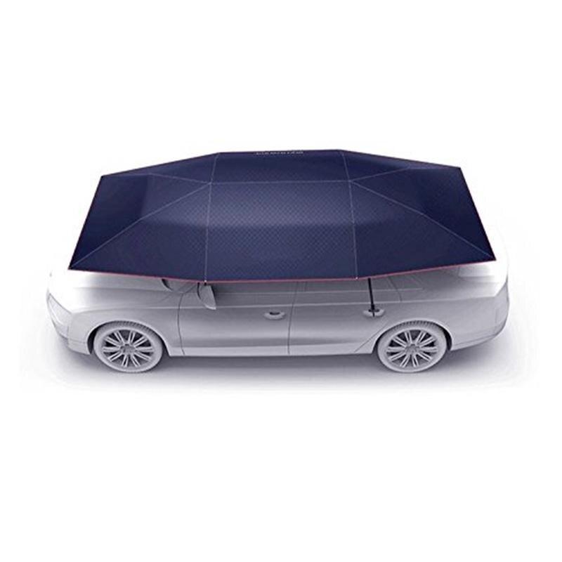Portable semi-automatique en plein air étanche voiture parapluie auvent soleil ombre Camping tente Anti-UV soleil abri bâche de voiture auvent tente