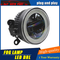 Car Styling Angel Eye Fog Lamp for Mitsubishi ASX LED DRL Daytime Running Light High Low Beam Fog Automobile Accessories