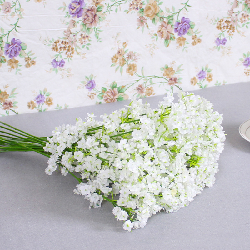 Rustic Artificial Flowers White Gypsophila 13