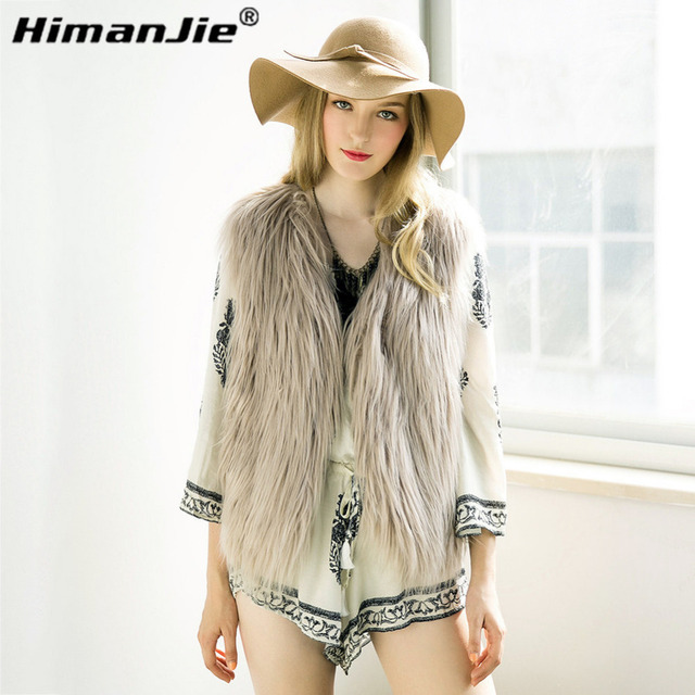 2016 newest  Winter  Warm Fashion Women Import Coat Fur Vest High-Grade Faux Fur Coat Fox Fur short Vest Plus Size M-XXXXL