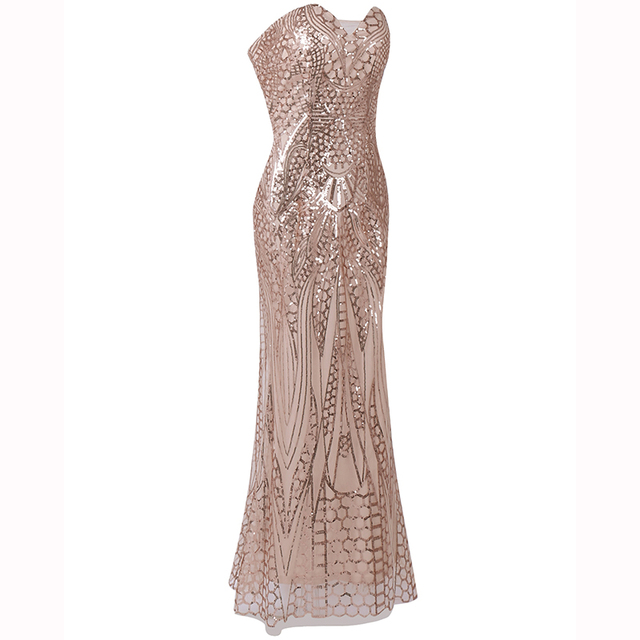 BLUETIME 1920s Great Gatsby Vintage Dress Women Summer Sequined Ladies Retro Long Maxi Party Bodycon Sundress Robe Femme 2F33