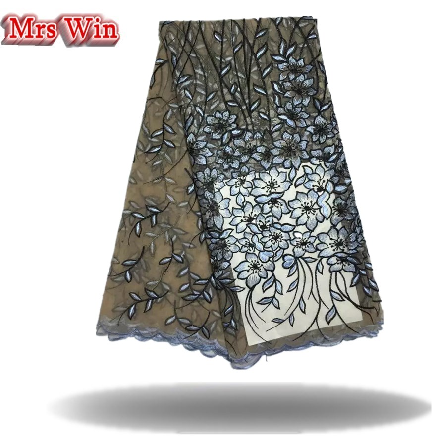 tulle lace fabrics soft embroidery Cemillia patterns 5 yards Swiss guipure lace African Nigerian wedding dress fabric Hot Sale