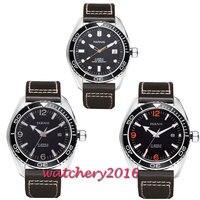 45 мм Parnis водостойкие Diver механические часы с автоматически подзаводом часы керамика Rotatig ободок 5ATM сапфир наручные часы для мужчин подарок