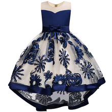 2018 Kids Tutu Birthday Princess Party Dress for Girls Infant Lace Children Bridesmaid Elegant Dress for Girl baby Girls Clothes
