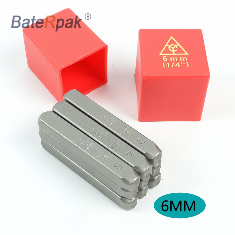 6MM Standard Number BateRpak Car Chassis Number Stamp,punch Stamp,Number(0-8)  9pcs/box