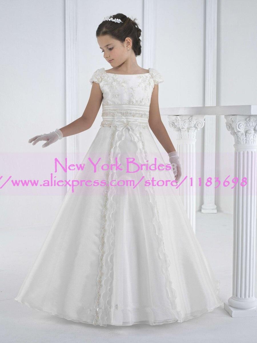 5212 18 De Descuento2019 Vestido De Daminha Vestidos De Niña De Flores Vestidos Infantiles Vestidos De Primera Comunión Para Niñas Vestidos Para