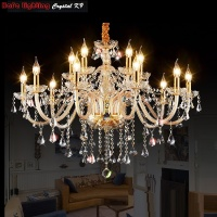 Chandelier Modern Crystal Lighting Luxury Transparent Chandeliers Lamp Suspended Light Lustres De Cristal Lamp Hotel Lighting