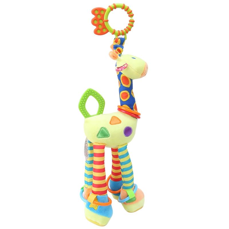 Plišaste igrače za dojenčke, žirafe, zvončki, ropotuljice, - Igrače za dojenčke in malčke - Fotografija 5