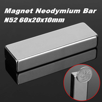 2pcs 60 x 20 x 10mm N52 Block Magnet Super Strong Cuboid Rare Earth Neodymium Magnets 60mm x 20mm x 10mm Magnet