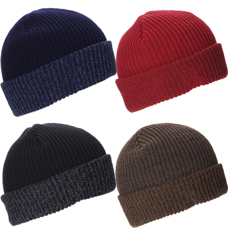New Hip-Hop Men Women Unisex Cap Beanies Winter Thick Warm Knit Hats Casual Outdoor Skiing Caps -MX8 2016 new beautiful colorful ball warm winter beanies women caps casual sweet knitted hats for women outdoor travel free shipping