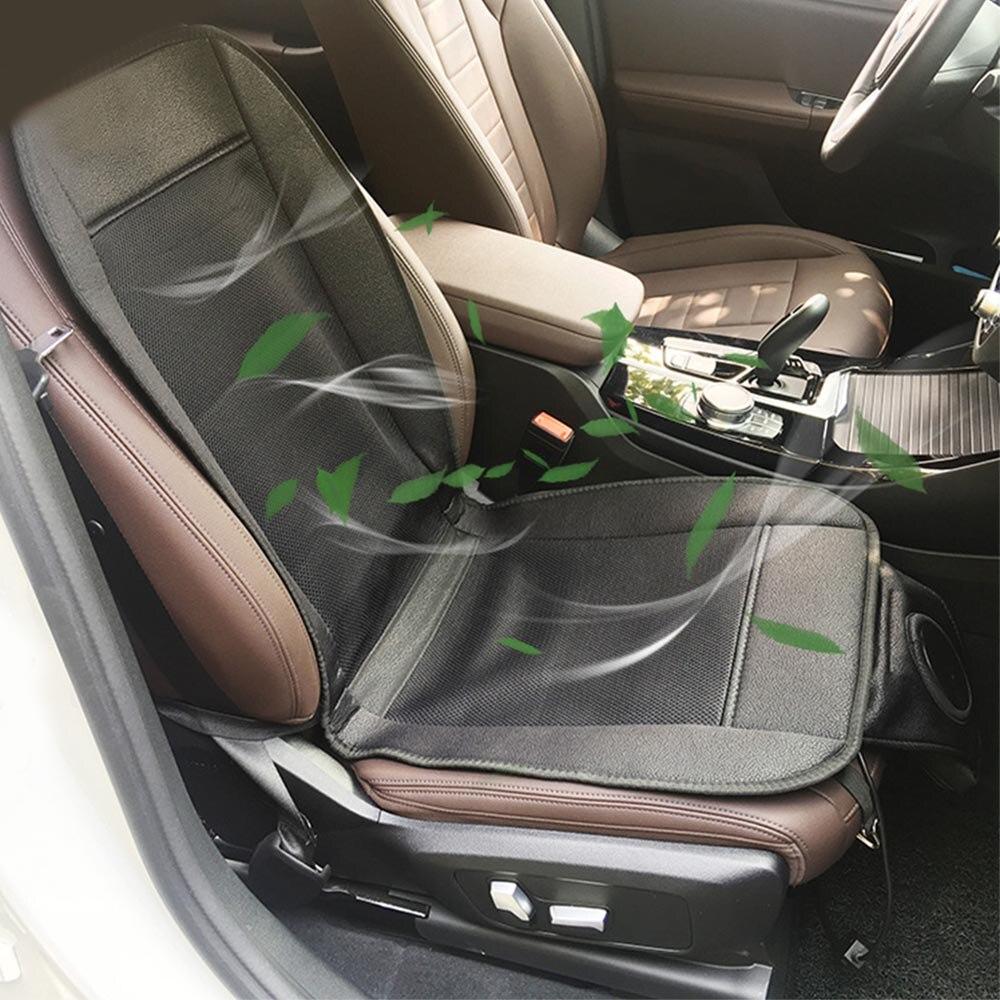 12V Summer Cooling Coj/ín del Asiento del autom/óvil Asiento del enfriamiento Coj/ín Transpirable Cubierta del Asiento con Ventilador de Aire ventilado