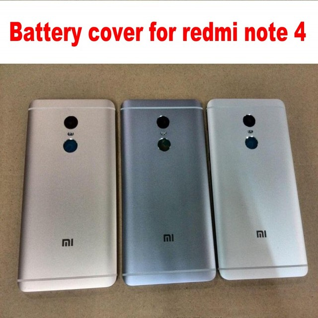 Battery cover case for xiaomi redmi note 4 phone housing case metal with Volume and power buttons free shipping