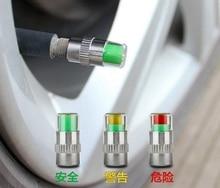 Car Tire Pressure Monitor Valve Cap 2.4bar Air Alert Tire Valve Caps Tyre Wheel Stem Sensor Indicator Eye Alert Diagnostic Tools