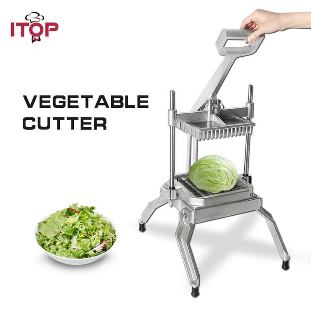 ITOP Machine commerciale manuelle de découpe pour légumes et fruits, trancheuse, broyeur, coupeur, outil de cuisine, processeur alimentaire