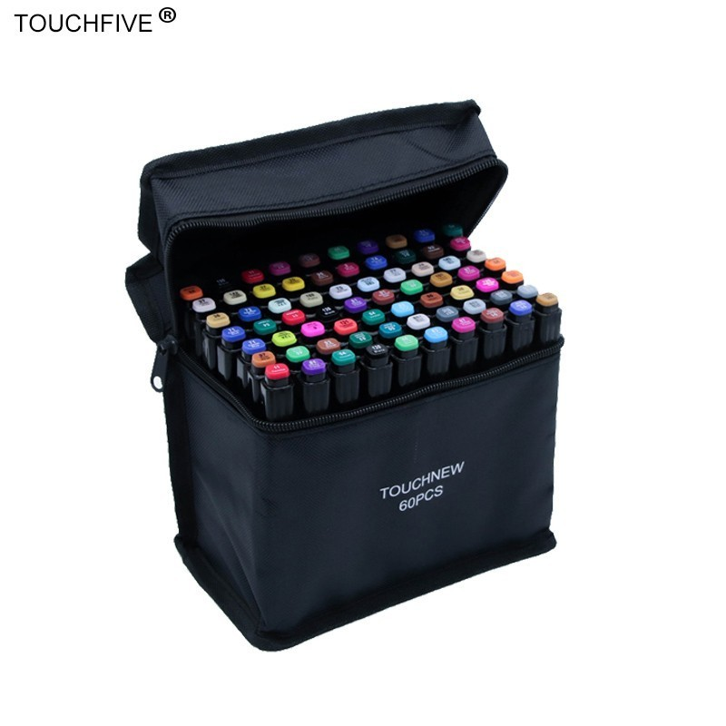 Touchfive 30/40/60/80/168 Colors Set  Markers Alcohol Oil Ink Dual Brush Pen Manga Student Sketch Drawing Marker Art Supplies
