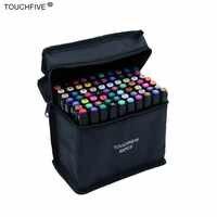 Touchfive 30/40/60/80/168 colores conjunto de marcadores de tinta de aceite de Alcohol doble pincel Manga suministros de arte marcador de dibujo de bocetos para estudiantes