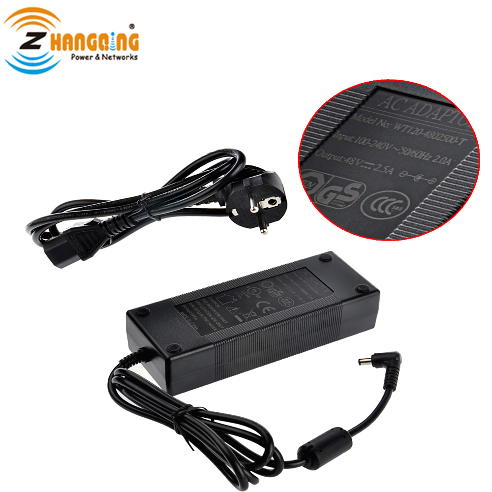 DC Power Adapter 48V 120W Power Supply US EU AU standard Plug For PoE Injector PoE Switch Security Vlotage FCC UL ApprovalDC Power Adapter 48V 120W Power Supply US EU AU standard Plug For PoE Injector PoE Switch Security Vlotage FCC UL Approval