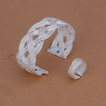 Silver plated gorgeous refined luxury noble elegant fashion woven two piece sets hot selling classic silver jewelry S310