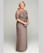 Vintage Luxury Beaded Dresses for Mother of the Groom Mother of the Bride Dresses Pant Suits with Sleeves for Weddings