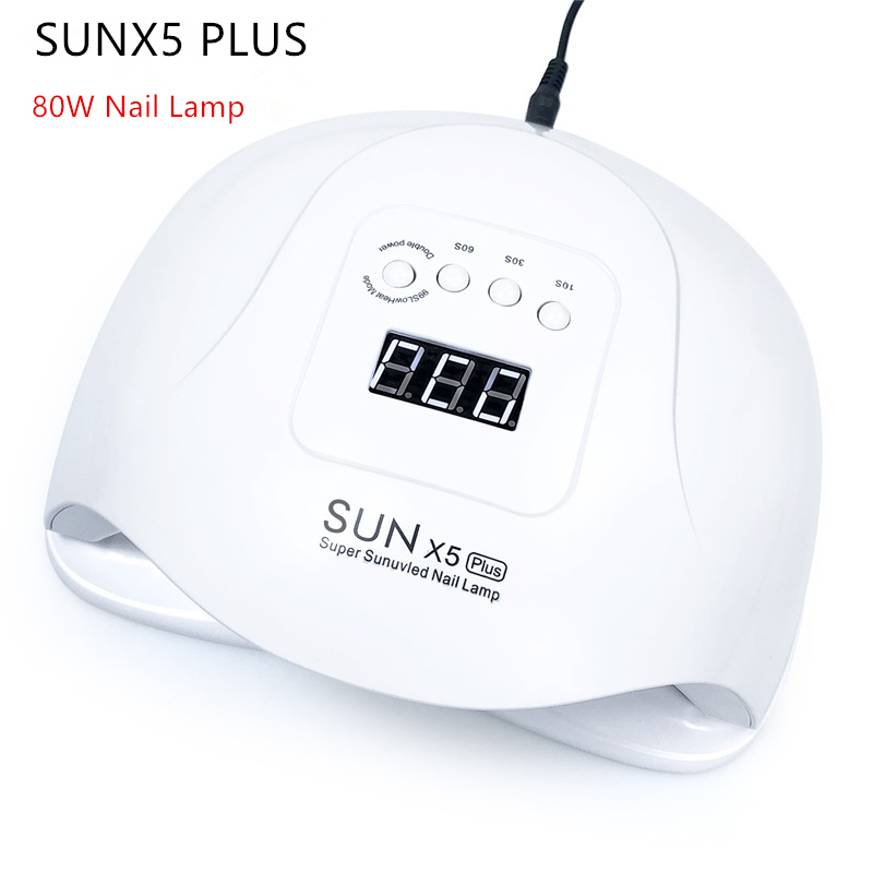 SUNX5 PLUS 80W UV LED Lamp Nail Lamp Professional Curing UV Gel Nail Polish Varnish Manicure Nail Dryer with Auto Sensin Lamp image