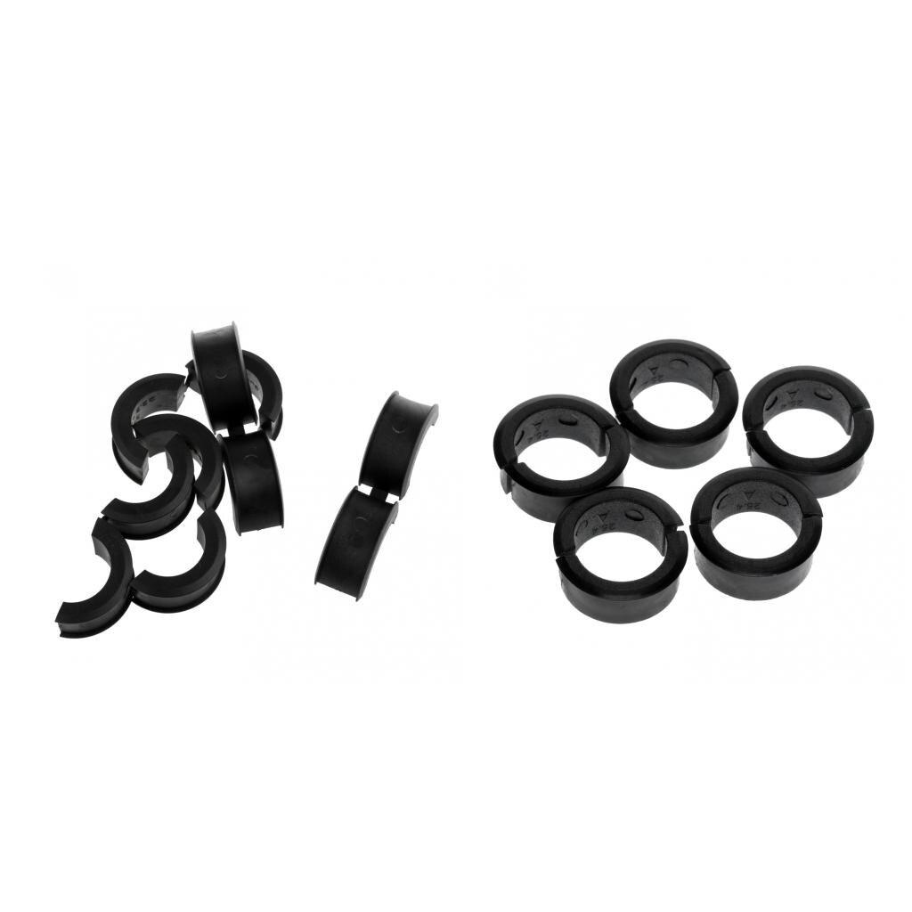 10 Pair Bike Bicycle Handlebar Clamp Shims Reducer Spacer Set 22.2//25.4mm