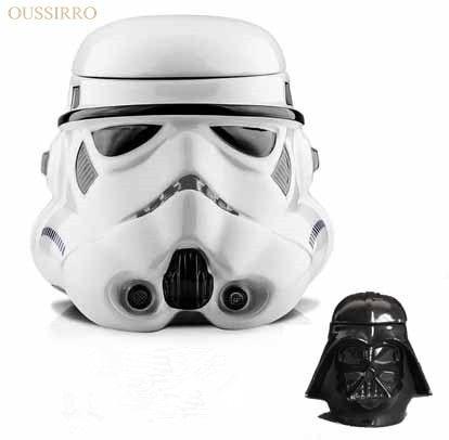 OUSSIRRO Star Wars mug Black and white knight warrior Baishi Bing ceramic cup paragraph cartoon version