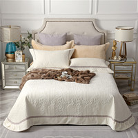 Beige Gray Brown High Quality Comfortable Flannel Cotton Summer Blanket Thick Bedspread Bed Cover Bed Sheet Pillowcases 3pcs