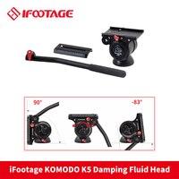 iFootage KOMODO K5 Video Fluid Head Lightweight Hydraulic Damping for DSLR Camera Tripod Monopod