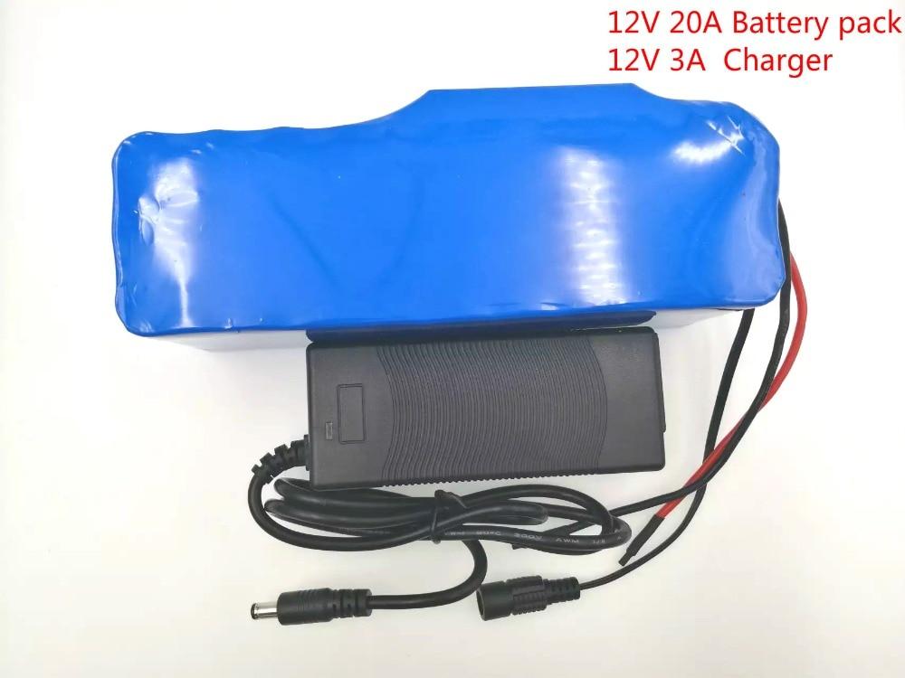 VariCore 12V 20Ah 18650 Lithium Battery Pack 12.6v 20000mAh Capacity Miner's Lamp 100 w 800W High power Batteries + 3A charger 20000mah dual usb high capacity mini intelligent power bank w indicator lamp white yellow