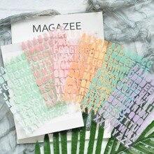 ZFPARTY Алфавит самоклеющиеся бумажные наклейки для скрапбукинга DIY проектов/фотоальбомов/открыток рукоделия