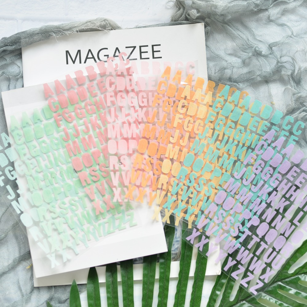 ZFPARTY Alphabet Self- Adhesive Paper Stickers For Scrapbooking DIY Projects/Photo Album/Card Making Crafts
