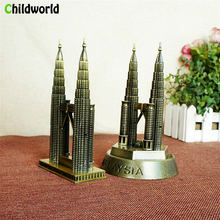 The new Metal crafts New York Gemini building monuments Electroplating workmanship Tourist souvenirs Twin Towers model