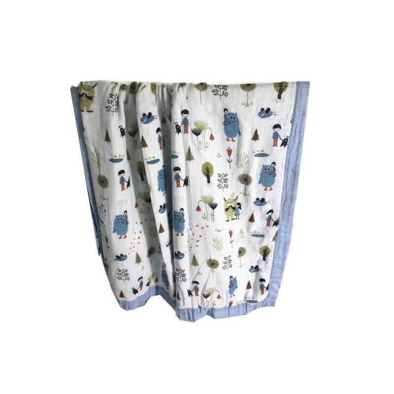 8 couches plus blanches Bambou + coton Bébé mousseline couvertures Langes Couvertures Nés Gaze infantile wrap sleepsack swaddleme serviette de bain