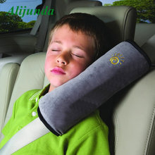 Children's new utility car seat cushion baby protection soft shoulder headrest car seat belt strap cover(China)