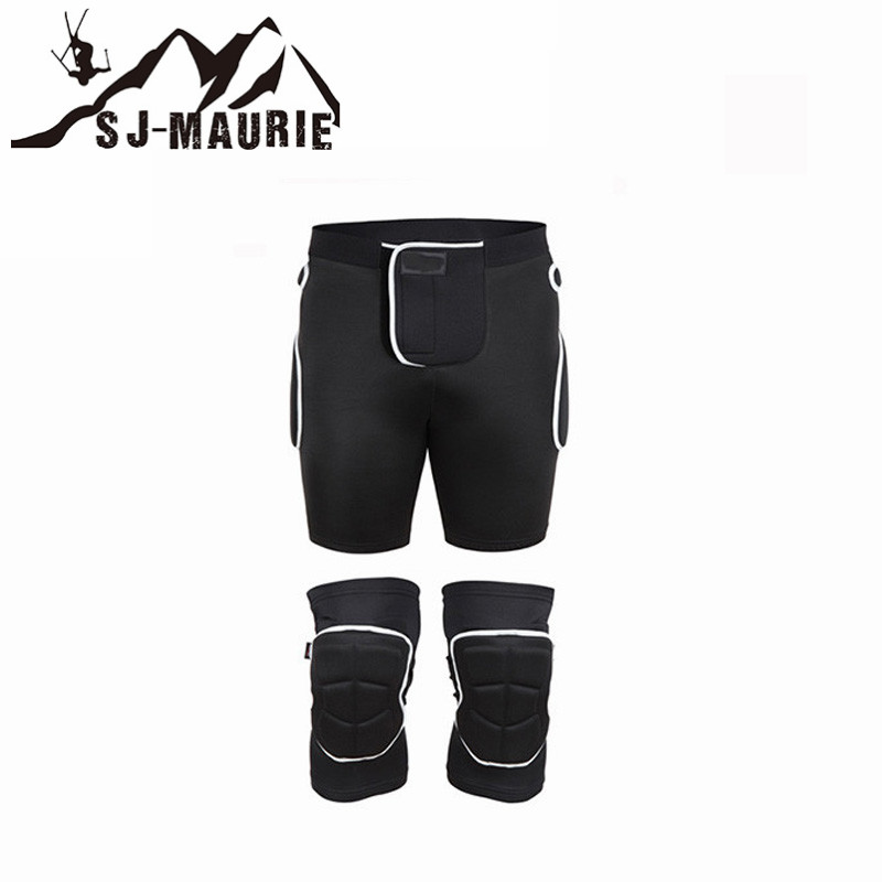 Universal Snowboard Cycling Skiing Hiking Basketball Volleyball Knee and Hip Pads Protectors Support Lycra Breathable Brace