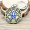 10PCS/Lot Star Trek Shield Metal Keychain Pendant Key Chain Chaveiro Key Ring Custom Accepted