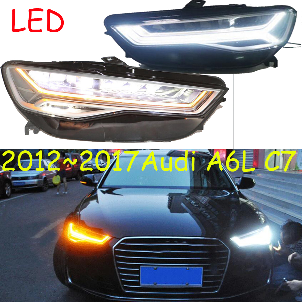 Affichage vidéo, phares 2013 ~ 2016, A6L, LED, xénon HID, accessoires de voiture, antibrouillard A6L, A4, A5, A8, Q7, S3 S4 S5 S6 S7 S8, lampe frontale A6L