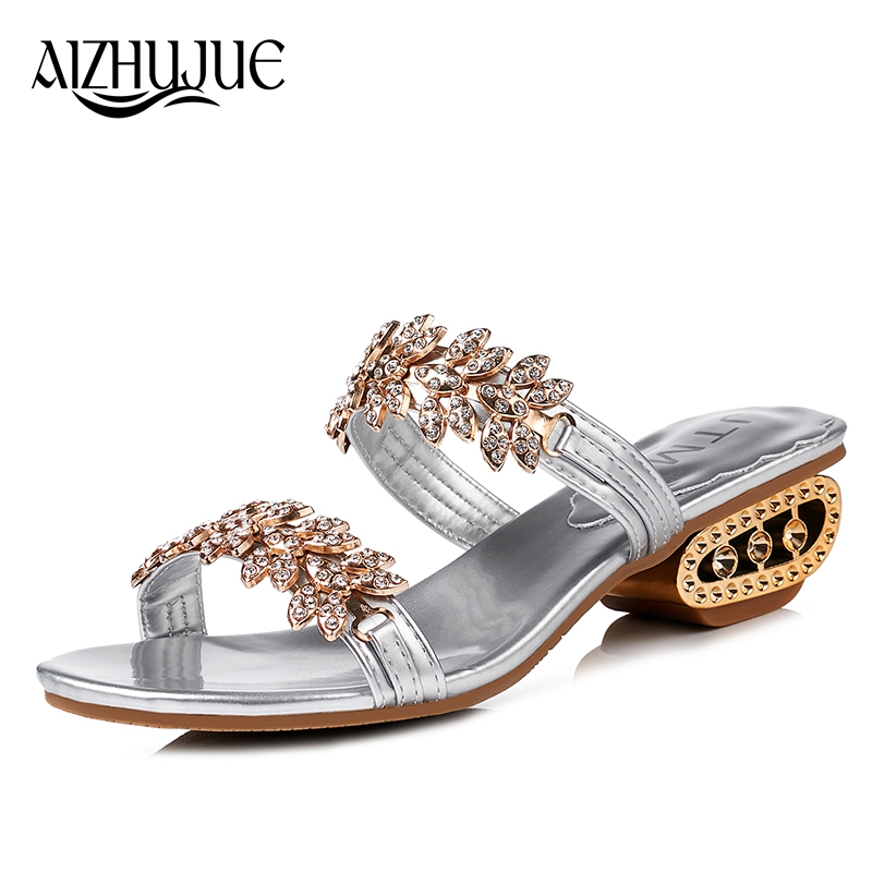 New 2018 Shoes Women Slippers Fashion Flip Flops Summer Style Metal Rhinestones Chains Flats Solid Sandals Sandal Flat lanshulan bling glitters slippers 2017 summer flip flops platform shoes woman creepers slip on flats casual wedges gold