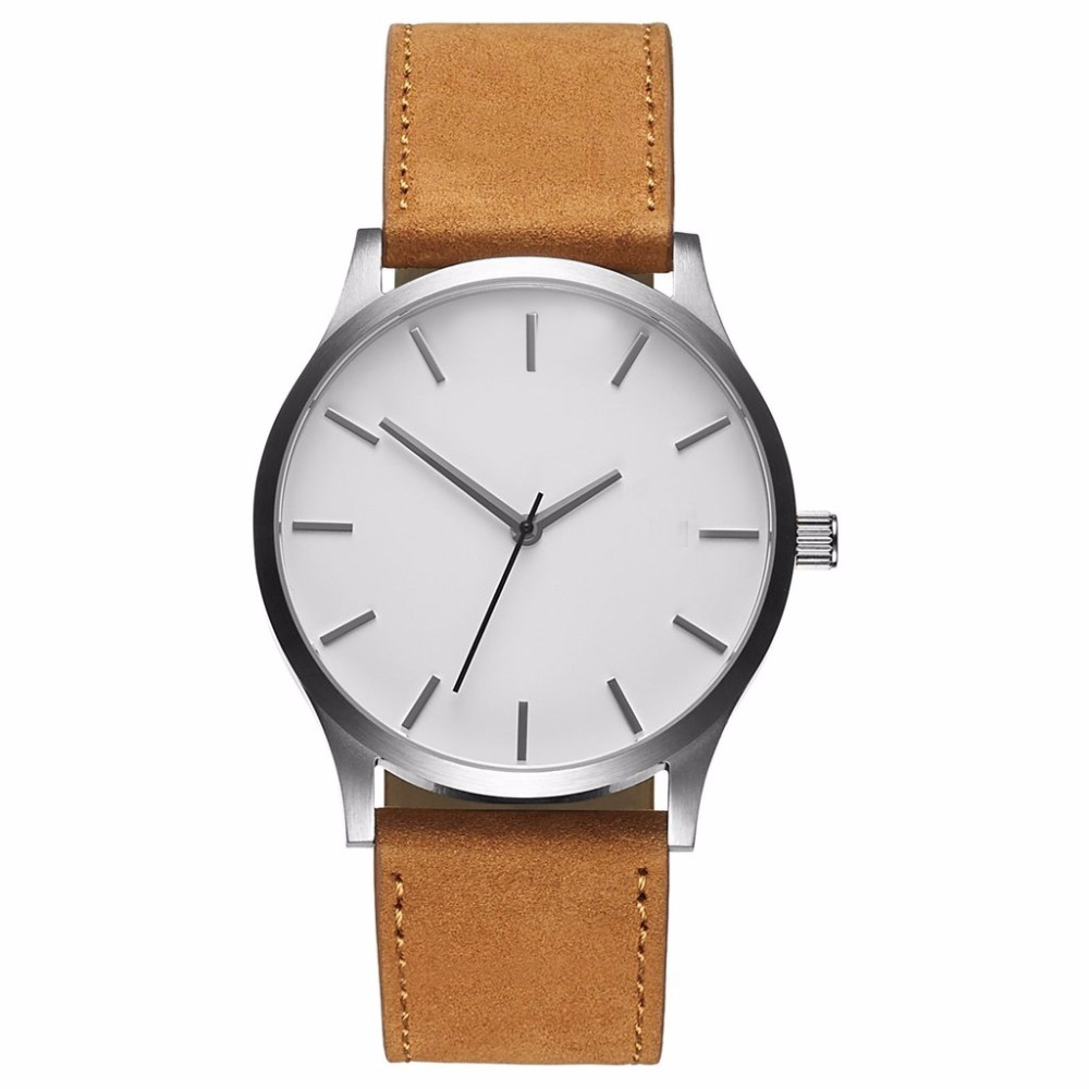 736dfe7ec89e9 2019 Minimalist Big Dial Watches For Men Hour Mens Watches Luxury Quartz  Watch Man Leather Sport Wrist Watch Clock relogio saati-in Quartz Watches  from ...