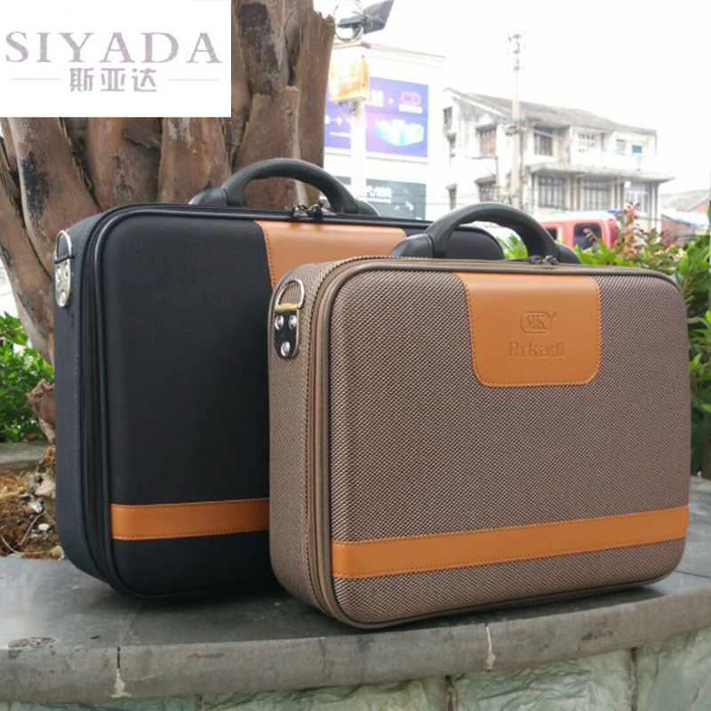 Business Computer Bag Document Briefcase Password Box Toolbox Small Suitcase Men's Suitcase Bag 14 Inches 16 Inches