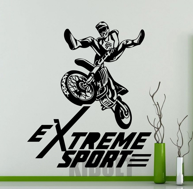 Motorcycle Motocross Extreme Sports Wall Sticker Wall